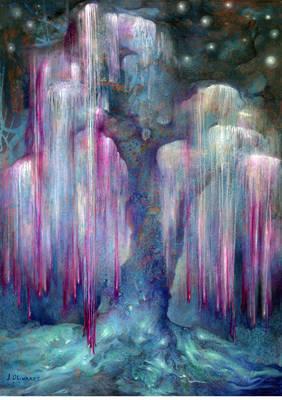 Arbracadabra - Peinture de Jaime Olivares - Huile sur papier 50x70